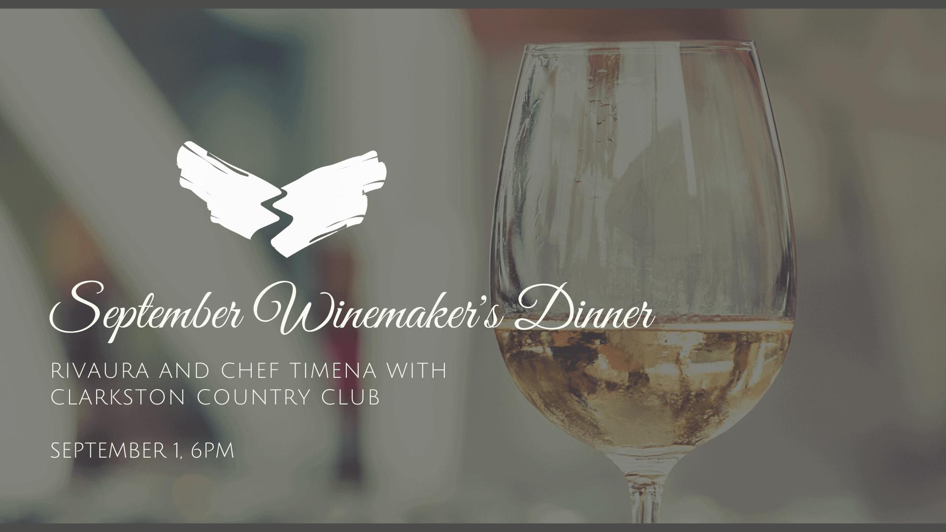 September Winemaker's Dinner