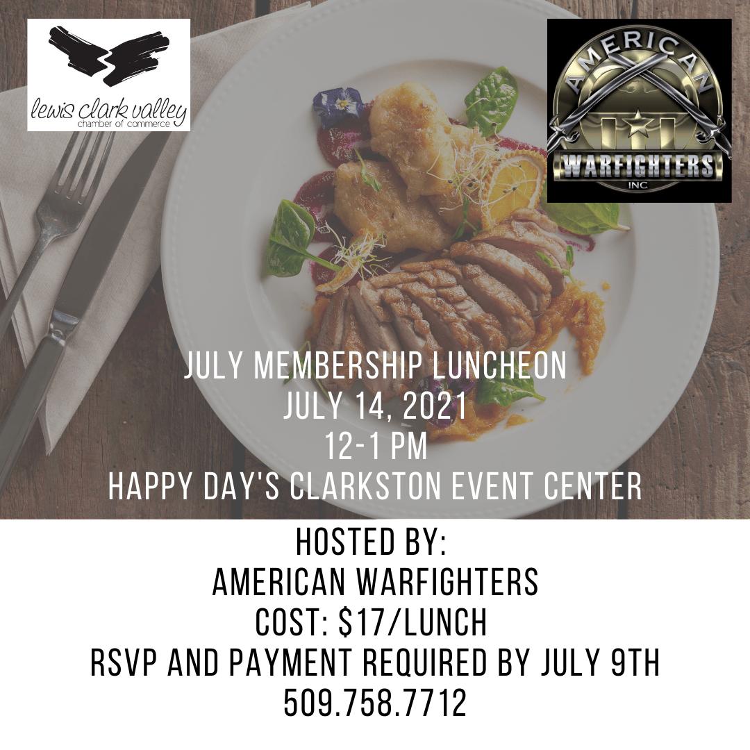 July 2021 Membership Lunch